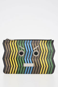 Leather ZIG ZAG Pochette