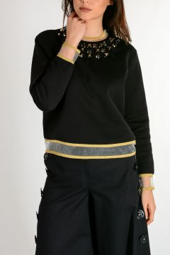 Top Black&Gold con Borchie