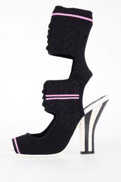 11cm Fabric High Sandals