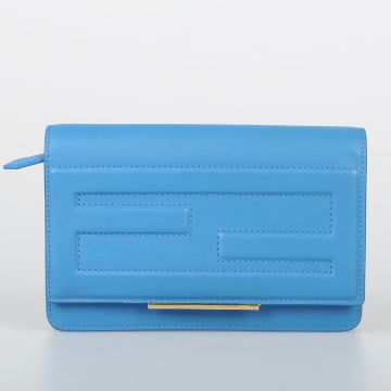 Leather Wallet with Removable Shoulder Strap