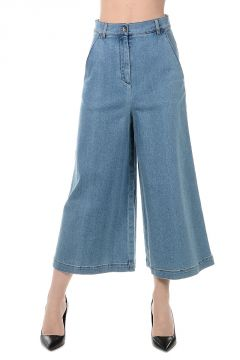 Stretch Denim Culotte Jeans 38 cm