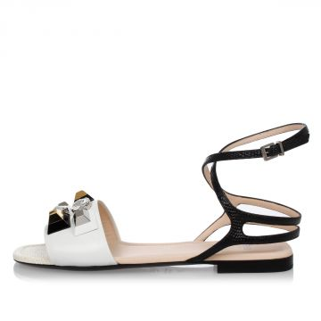 Leather Jewel Sandals