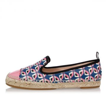 Printed Leather Espadrillas