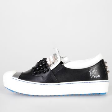 Leather KARLITO Sneakers with Studs