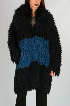 Alpaca Blend Coat with Fur
