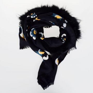 140 x 140 cm Silk & Wool FLOWERLAND 3 Shawl