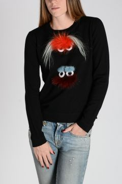 Wool WONDERS Sweater With Real Fur