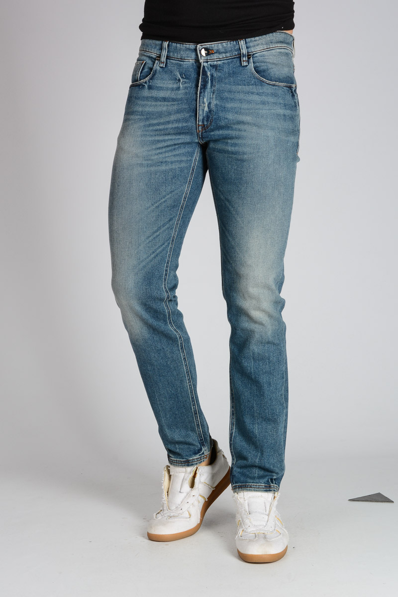 Fendi Uomo Jeans in cotone Stretch 17cm Glamood Outlet