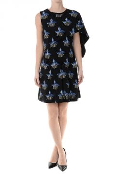 CADY ORCHID Silk Printed Dress