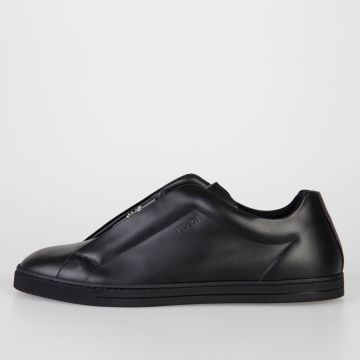 Sneakers Slip-On in Pelle