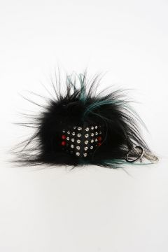 Studded and Real Fur FURROCK Key Ring