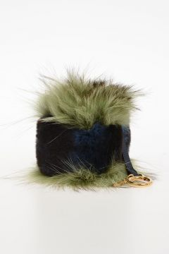 Real fur Dice Key Ring