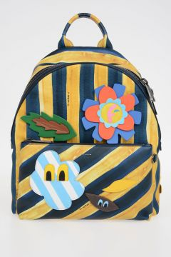 Watercolors Striped Embroidery Back Pack