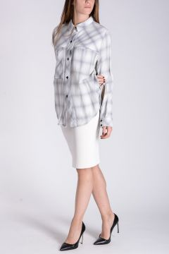 JANE Checked Blouse with Swarovski© Crystals