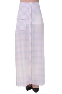 Linen Cotton FOX  Long skirt