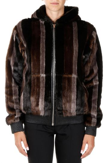 LOULOU Hooded Faux Fur Jacket