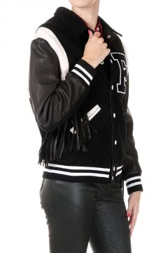 Bomber Jacket with Fringes