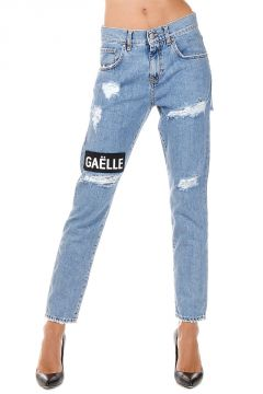 Jeans in Denim Destroyed 14 cm