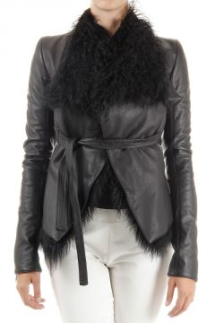Shearling in Pelle CROSS JACKET W.FUR