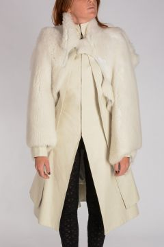 Shearling SLEEVE HEAD INSERT TRENCH Coat