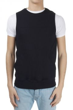 Sleeveless Cotton Sweatshirt