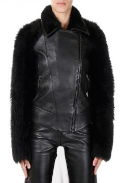 Shearling and Leather Biker