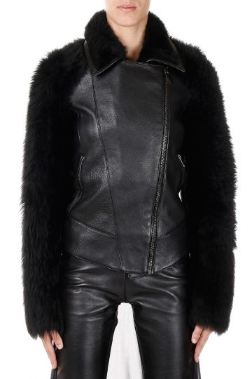 Biker in Pelle e Shearling
