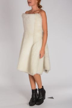 Vestito con Shearling LOW BACK CORSET FULL SKIRT DRESS