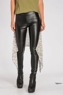 Leather & Silk STRETCH PANEL INSERT Leggings