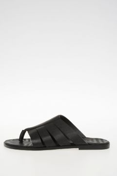 Leather STRAP THONG flip flop