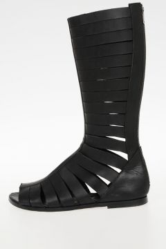 Leathe Flat High Sandal Boots