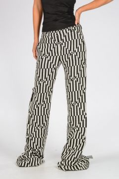 Silk and Linen Jacquard TAILORED Pants