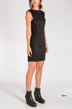 Vestito STRETCH INSERT in Cotone e Nylon
