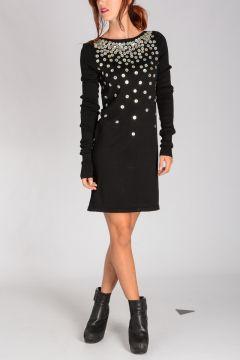 Embellished LONG SLEEVED TOP Dress