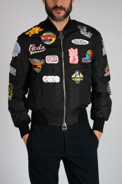 Bomber in Nylon con Patch