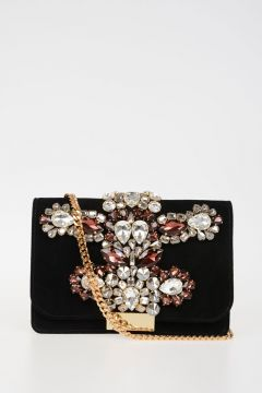 Borsa CLIKY QUEEN in Pelle con Strass