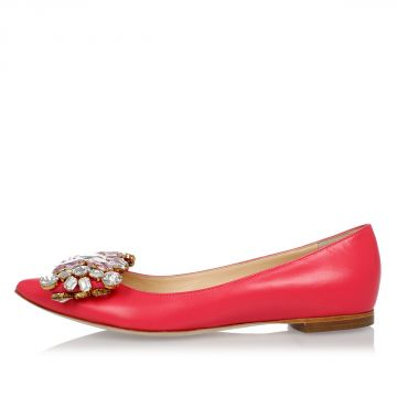Leather Jewel KATE Ballet Flat