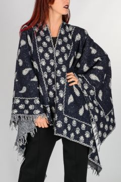 Wool and Cotton Poncho