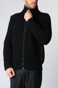 Virgin Wool Knitted Jacket