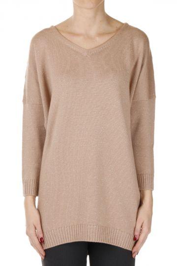 Glitter V Neck Sweater