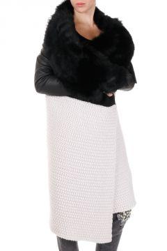 Cappotto in Maglia con Pelliccia di Montone