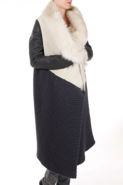 Knitted Coat With Real Fur