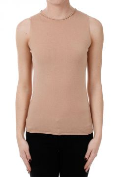 Wool Blend Sleeveless Sweater