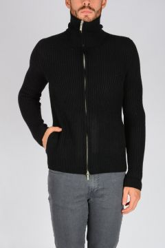 Cardigan con Zip in Cashmere