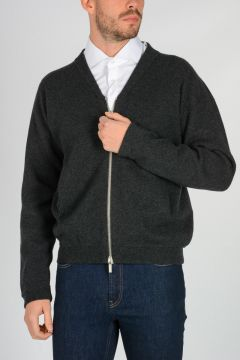 Cardigan in Cashmere  a Girocollo
