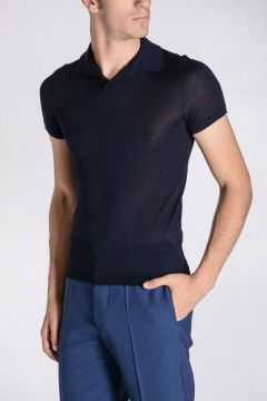 Cashmere & Silk Knitted Polo Sweater