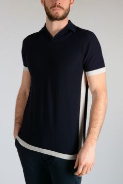 Cashmere & Silk Polo Shirt