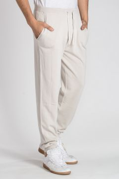 Cotton & Silk Knitted Jogger Pants