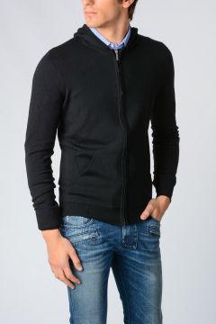 Virgin Wool Knit Sweatshirt