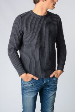 Cable Knit Virgin Wool Sweater